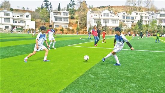 全市首块社会足球场建成使用